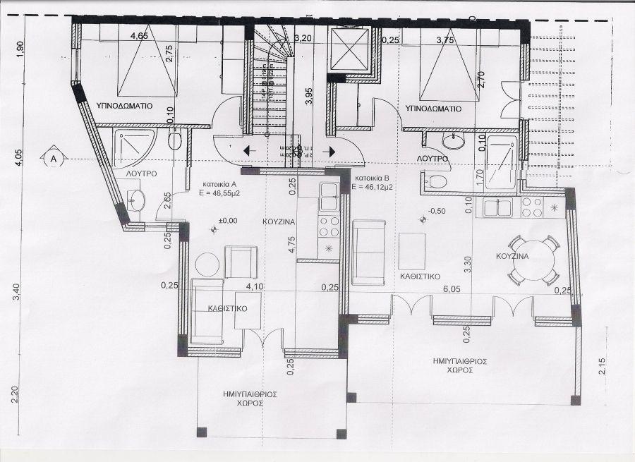 Διαμέρισμα προς πώληση Χώρα (Σέριφος) 50 τ.μ. Ισόγειο 1 Υπνοδωμάτιο