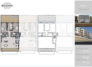 maisonette for sale Naxxar Salina, 142 ㎡, bedrooms: 3