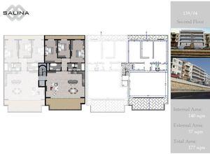 apartment for sale Naxxar Salina, 140 ㎡, bedrooms: 3